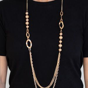 "New! Paparazzi ""Modern Girl Glam"" Gold Necklace"